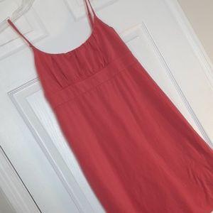 🌷 Cotton Strappy Tank TShirt Dress Melon Pink S